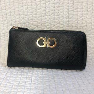 Ferragamo Gancini Saffiano Leather Wallet